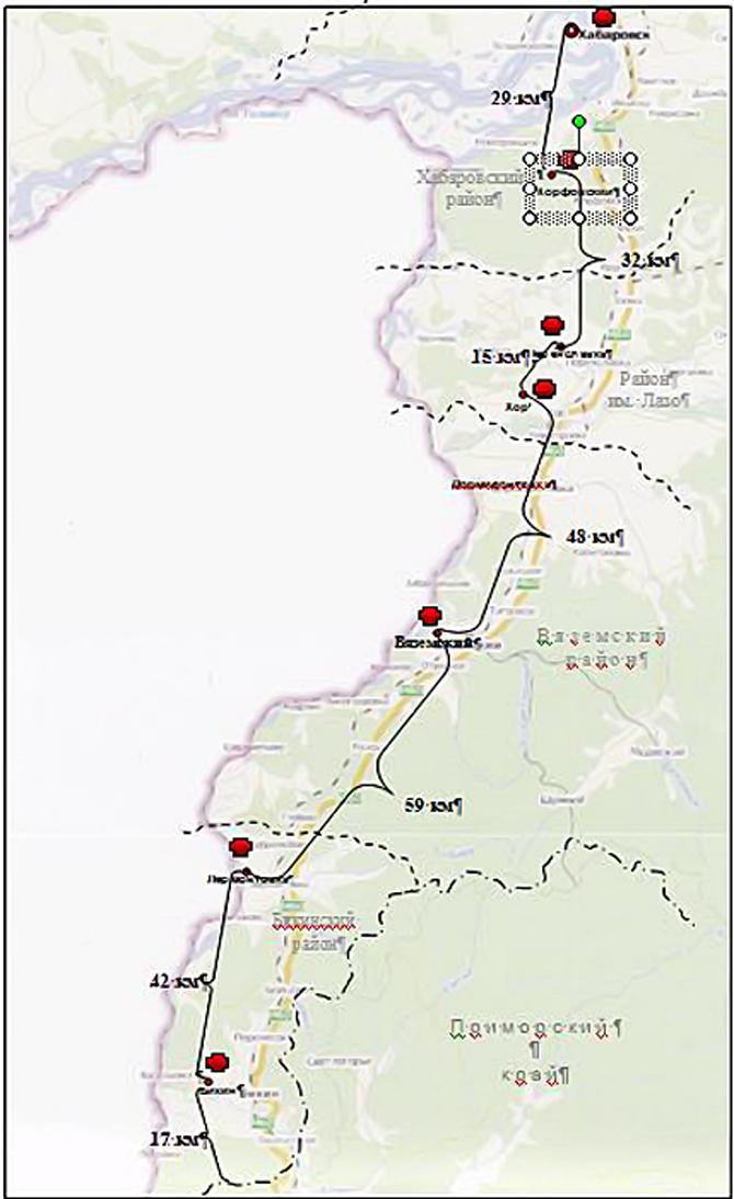 Хабаровска до 46 км трассы