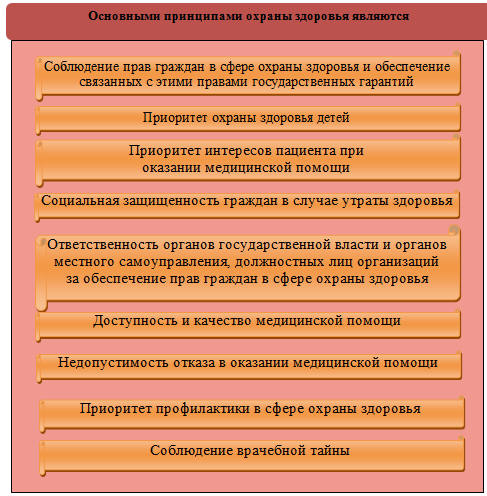Организационно экономические и правовые аспекты модернизации  Основные принципы охраны здоровья населения