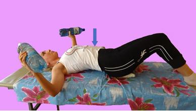 Рис. 1. Торможение ортостатической синергии в положении лёжа на спине.