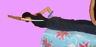 Рис. 8. Торможение ортостатической синергии асимметричными упражнениями в положении лёжа на животе