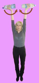 Рис. 17. Торможение разгибательно-приводяще-пронаторной синергии руки двухсторонней гиперпронацией предплечий