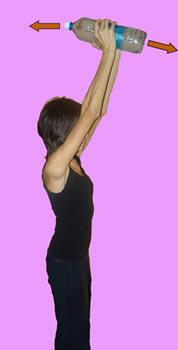 Рис. 20. Торможение разгибательно-приводяще-пронаторной синергии руки с использованием рефлексов равновесия, а также гравитационных и инерционных сил