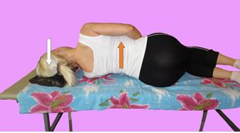 Рис. 3. Нецеленаправленная релаксация длинных мышц шеи