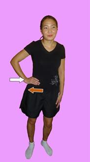 Рис. 12. Изометрическая релаксация ипсилатеральных поясничных мышц давлением ладони