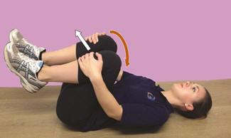 Рис. 16. Постизометрическая релаксация поясничных мышц в положении лёжа на спине
