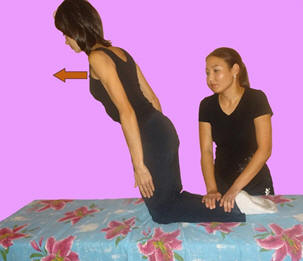 Рис. 7. Тренировка мышц поясницы в положении стоя на коленях